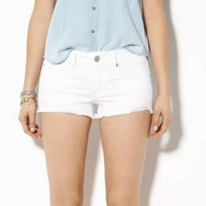 American eagle outfitter white stretch shorts sz 0